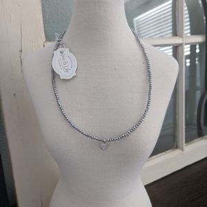 NWT Iris & Lily Crystal chocker necklace Sterling